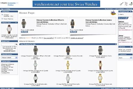 Des montres de luxe authentiques vendues sur un site inter - Vente par internet suisse ...