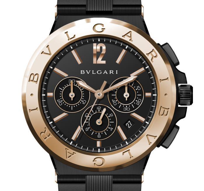 Bvlgari Diagono Ultranero chronographe : quatre nouveautés