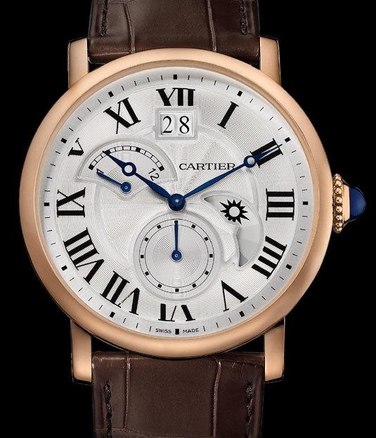 Spécificités techniques de la montre Cartier Rotonde Second fuseau horaire jour/nuit