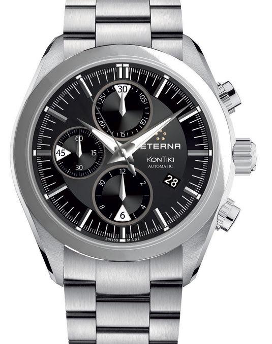 Spécificités techniques de la montre Eterna Chronographe KonTiki automatique