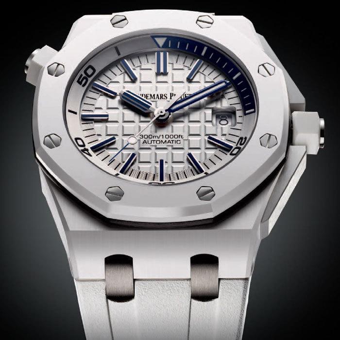audemars piguet royal oak offshore diver l 39 une des plus belles montres blanches. Black Bedroom Furniture Sets. Home Design Ideas
