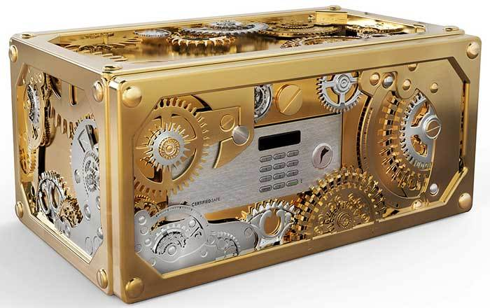 baron small safe boca do lobo coffre fort steampunk. Black Bedroom Furniture Sets. Home Design Ideas