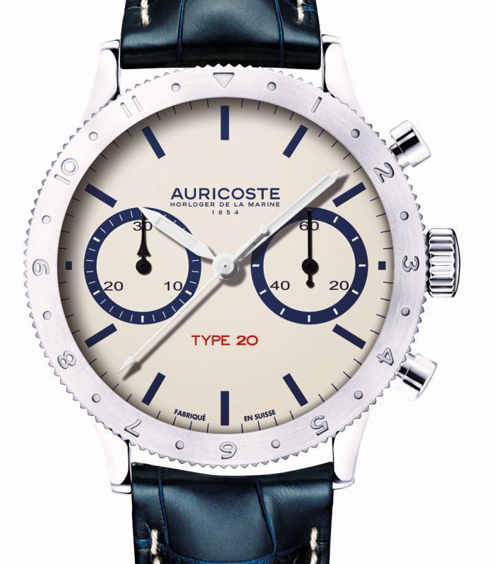 "Auricoste Chronographe Flyback Type ""20"" - Collection ""Les Ephémères"" 7123150-10916400"