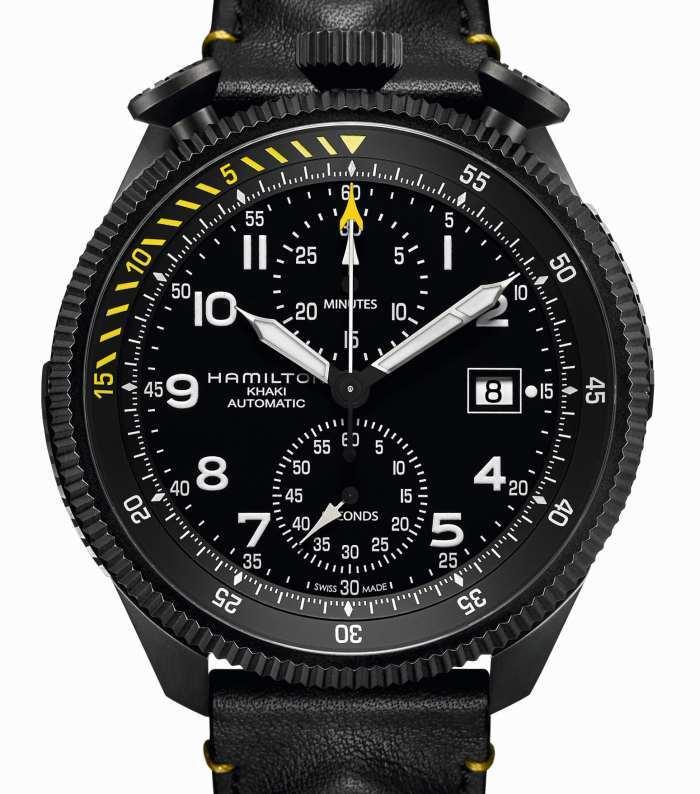 Hamilton Khaki Takeoff Auto Chrono : montre modulable en partenariat avec Air Zermatt