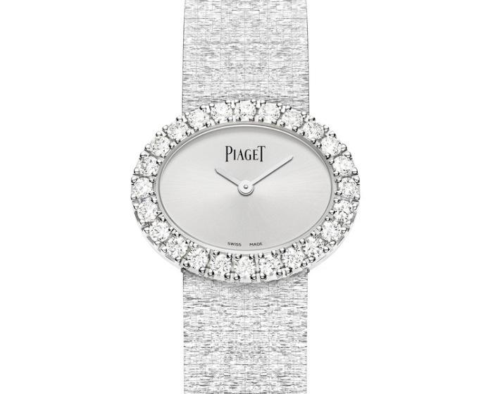 Piaget montre ovale en or blanc