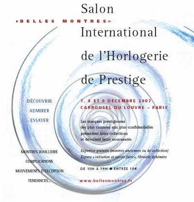 Belles Montres : 1ère édition d'un salon grand public à Paris en décembre prochain
