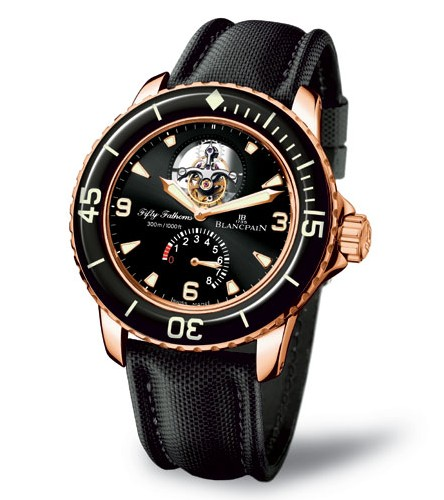 Fifty Fathoms de Blancpain (or rouge)