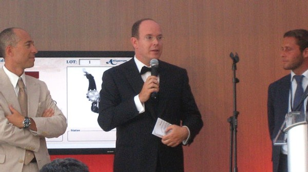 Prince Albert II de Monaco, au centre, lors de Only Watch 2007