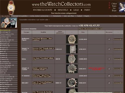TheWatchcollectors.com : une boutique virtuelle de montres d'occasion entre Knokke-le-Zout et Paris