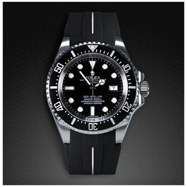 RubberB : un nouveau bracelet Vulcarboné pour les Rolex Deepsea