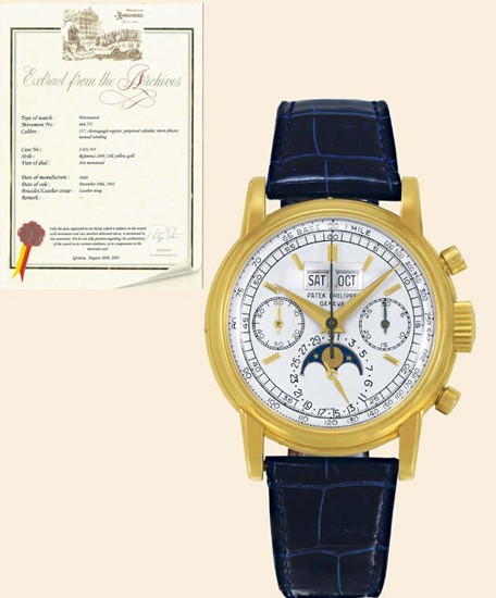 Patek Philippe Third series with tachometer dial Cliché Antiquorum