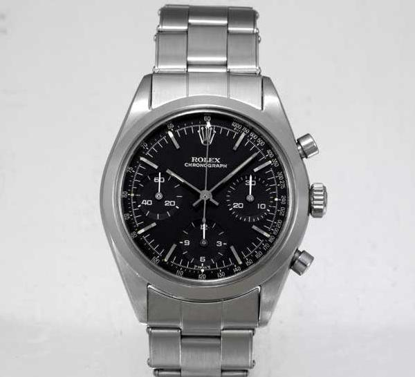 Rolex Black Dial Pre-Daytona Oyster Chronograph Ref. 6238 Photo Antiquorum