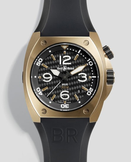 L'Instrument BR 02 de Bell and Ross montre en gamme et se pare d'or rose…