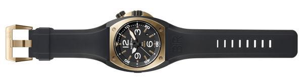 Instrument BR 02 or rose et acier avec finition noire de type carbone sous vide