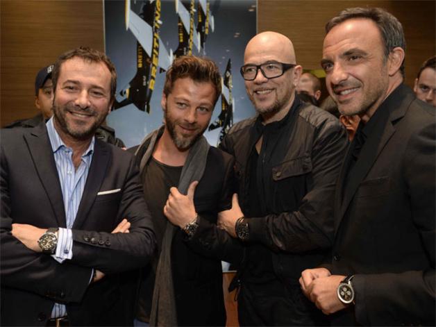 Bernard Montiel, Christophe Maé, Pascal Obispo et Nikos Aliagas