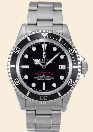 Rolex Double-Red Sea-Dweller Submariner de 1967 (photo Antiquorum)
