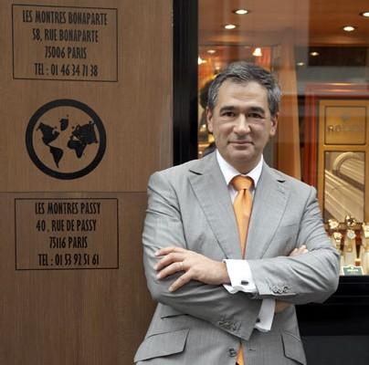 Jean Lassaussois de la boutique Les Montres à Paris