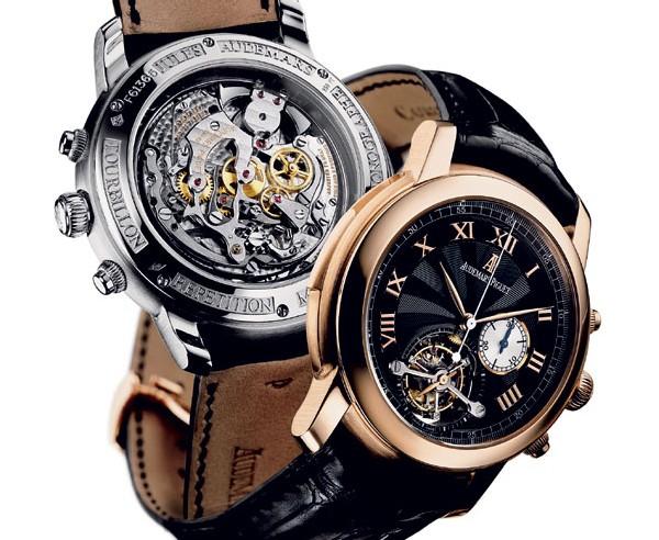 Montre-bracelet répétition à minutes Jules Audemars Tourbillon et chronographe, petite seconde à 6 heures