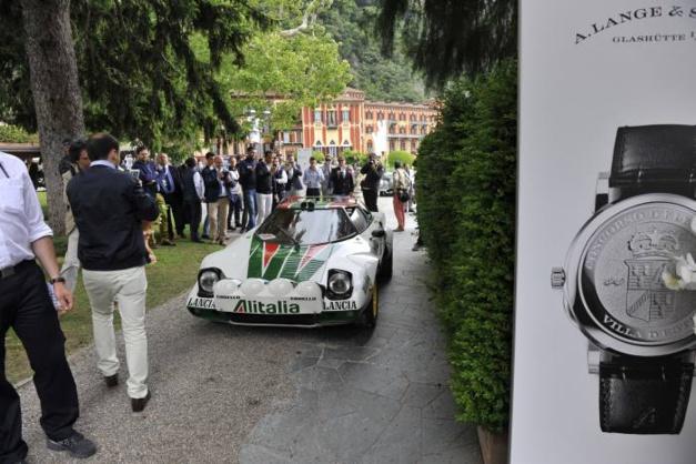 Le propriétaire de cette très belle Lancia Stratos de 1976 n'était autre que Stefano Macaluso, l'ex propriétaire de la marque horlogère Girard Perregaux et surtout celui d'une magnifique collection de voitures de rallyes.