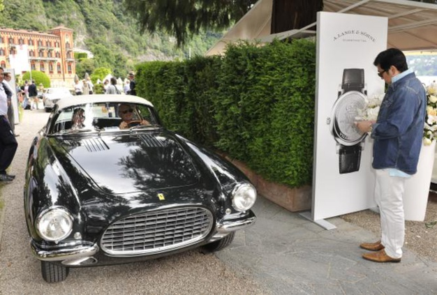 Une Ferrari 250 GT Europa de 1954 carrossée par Vignale qui fit partie de la collection des cinq Ferrari construites spécialement pour le Roi Leopold de Belgique et Liliane de Rhety