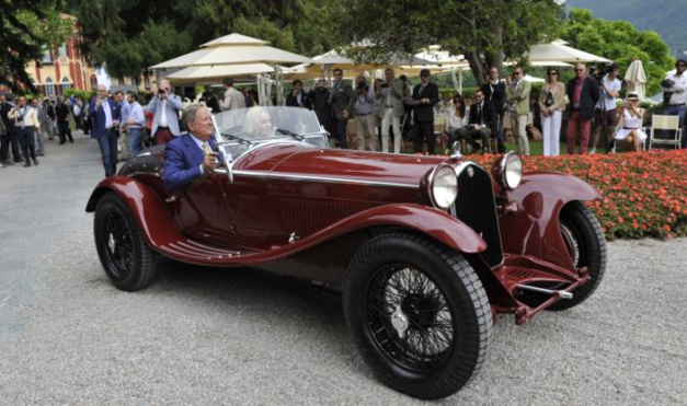 C'est cette Alfa Romeo qui remporta la catégorie Best of Show du Concours de la Villa d'Este 2015