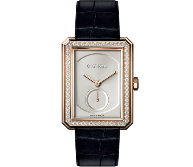Chanel Boy.Friend or beige et diamants