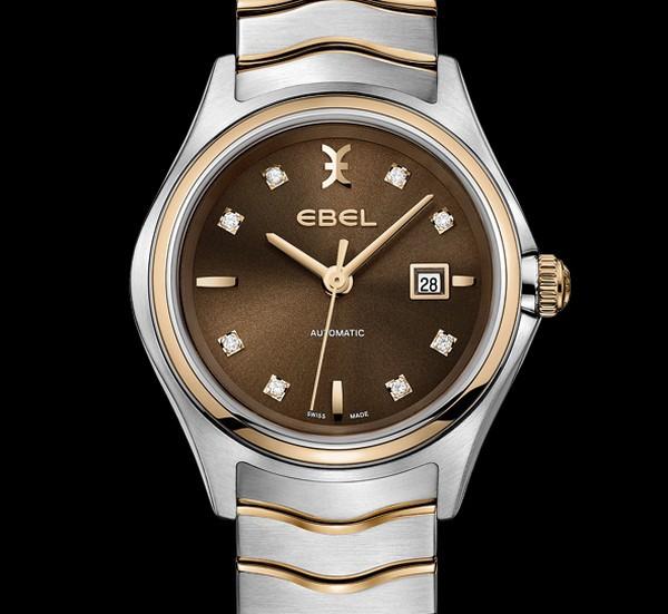 Ebel Wave Lady Auto : reflets bronze