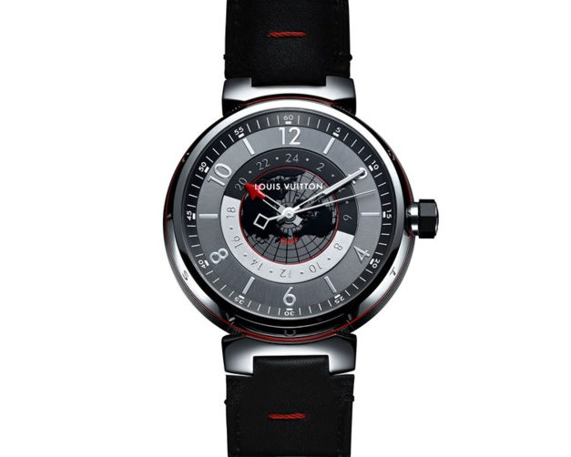 Louis Vuitton Tambour Graphite GMT