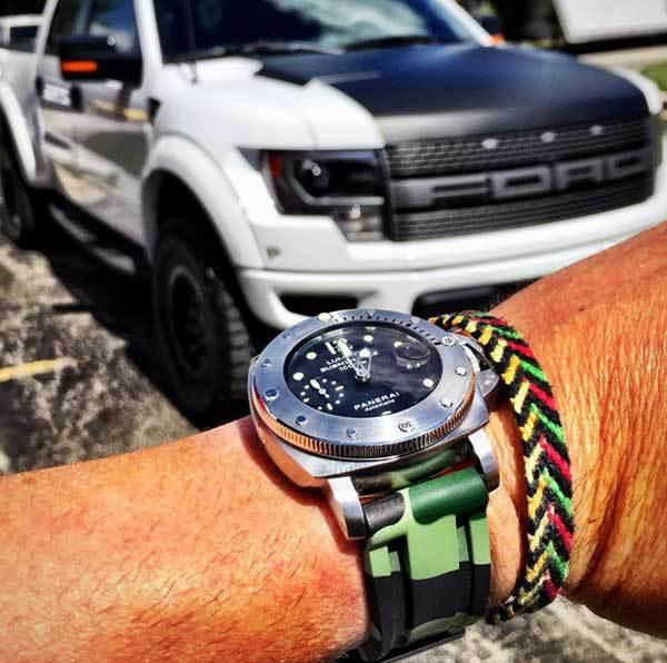 Horus Strap : des bracelets caoutchouc camo pour Panerai