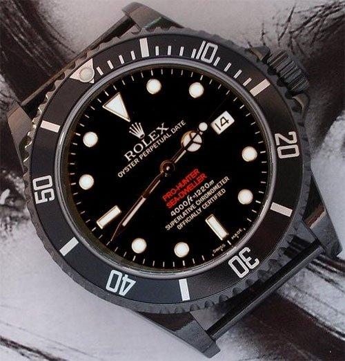 Rolex Seadweller recouverte de PVD noir par BJSonline
