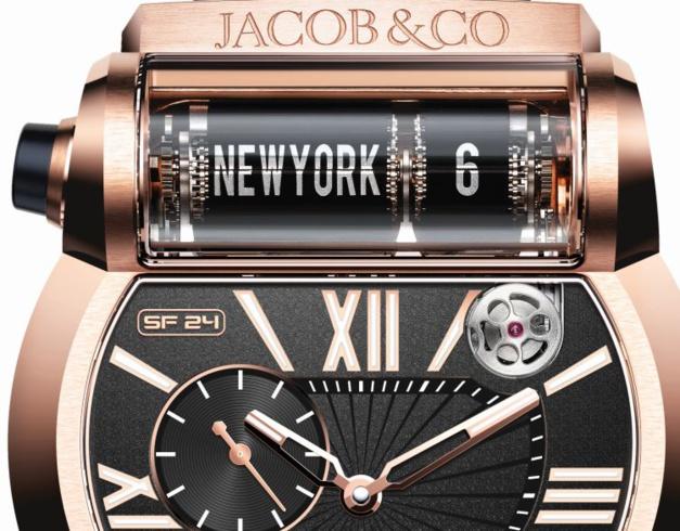 Jacob & Co Epic SF24 : ambiance d'aéroport pour montre voyageuse