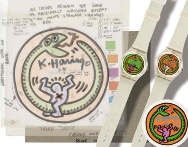Croquis de la Swatch Keith Haring