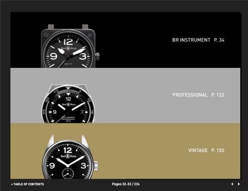 Le nouveau catalogue 2008 de Bell & Ross est consultable sur Internet