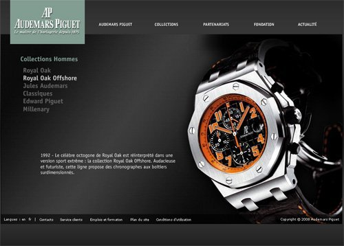 Audemars Piguet relook son site Internet
