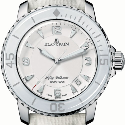 Fifty Fathoms de Blancpain (blanc)