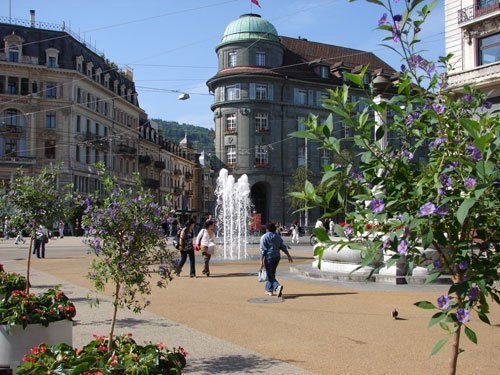 Place centrale, copyright Ville de Bienne