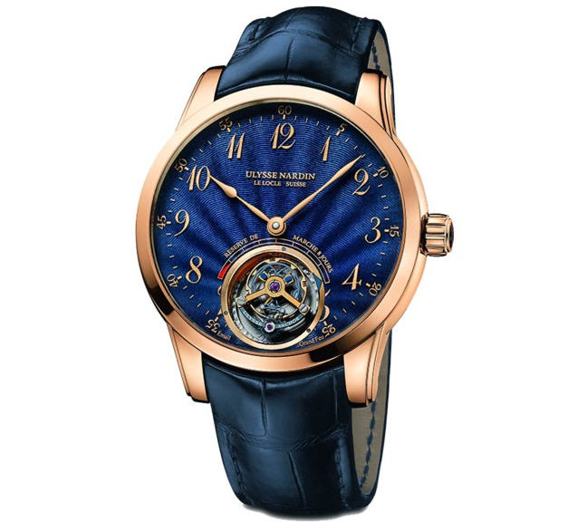 Ulysse Nardin Anchor Tourbillon : grand bleu