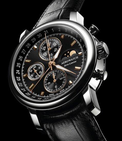 Aerowatch Chronographe Renaissance en acier série limitée