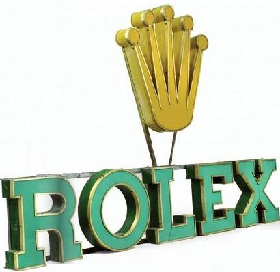 Enseigne Rolex des années 70 Photo d'après le catalogue Antiquorum