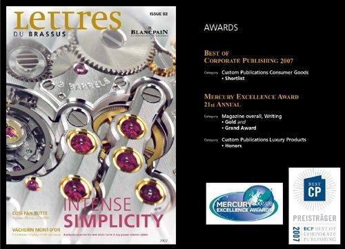 lettres du brassus le magazine de blancpain remporte trois nouvelles distinctions. Black Bedroom Furniture Sets. Home Design Ideas