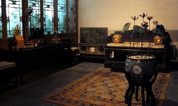 Hall of clocks dans la Cité Interdite de Pékin