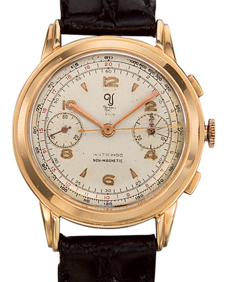 Chronographe Yema en or de 1957