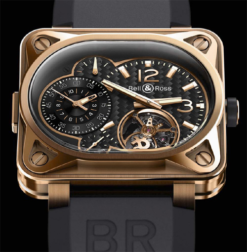 Grand minuteur tourbillon Bell & Ross en or rose
