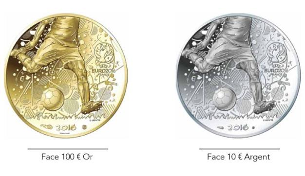 Monnaie de Paris : des pièces en or et argent pour l'Euro 2016