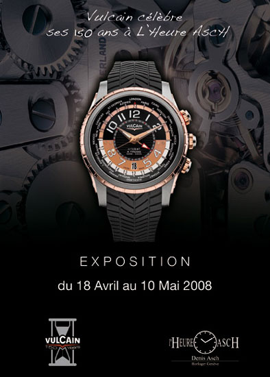 Vulcain célèbre 150 ans d'existence à la boutique L'Heure AscH de Genève