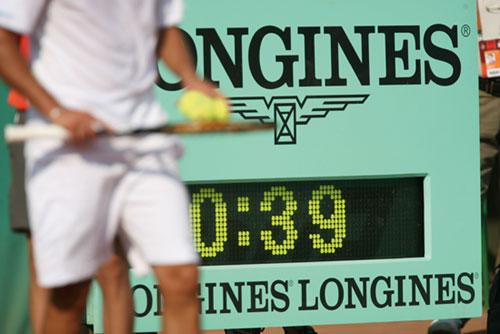 Longines revient chronométrer les matchs de Roland-Garros