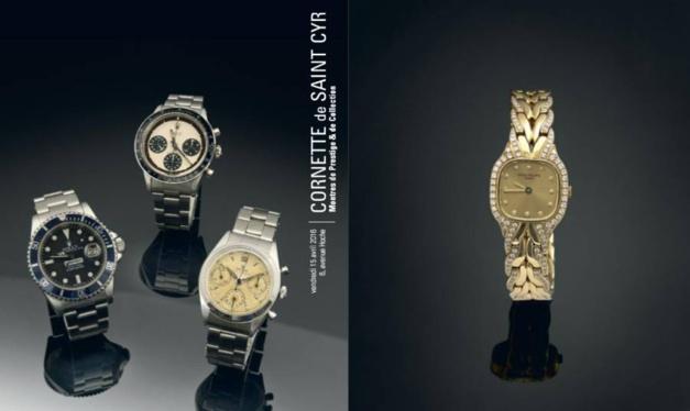 Cornette de Saint-Cyr : vente aux enchères de montres de collection le 15 avril 2016