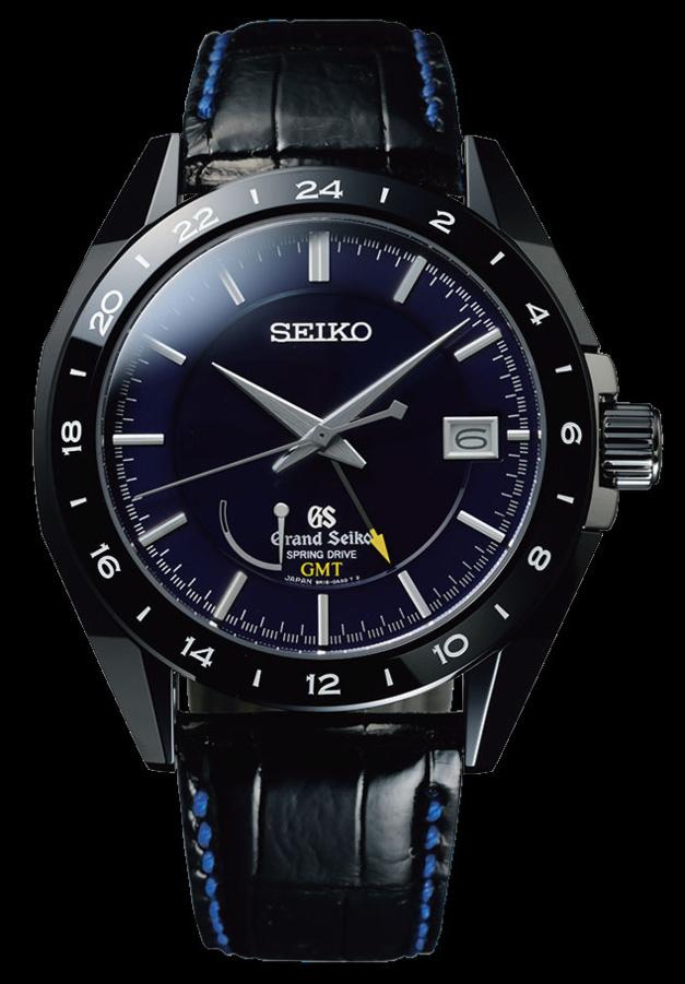 Grand Seiko Spring Drive GMT : quatre séries limitées en céramique noire