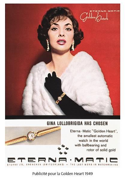 Gina Lollobrigida portant sa montre Eterna