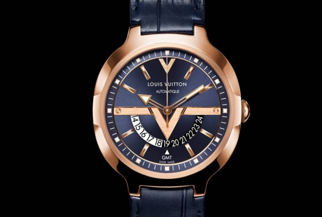 Louis Vuitton montre GMT en or rose